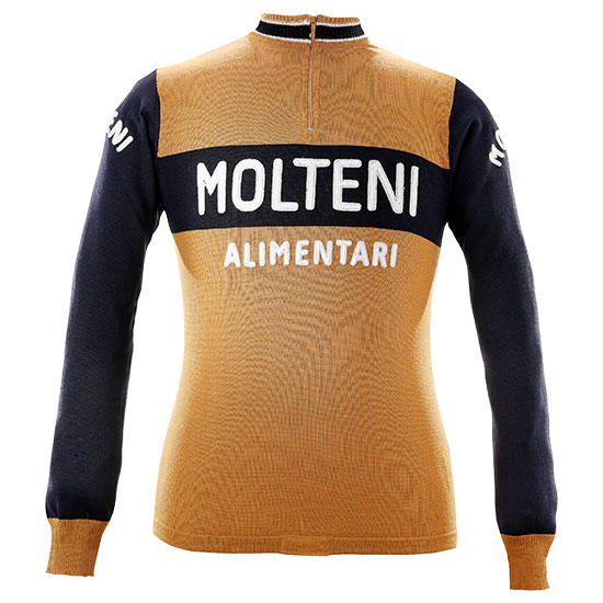 Eddy Merckx 1974 Molteni maillot cycliste manches longues