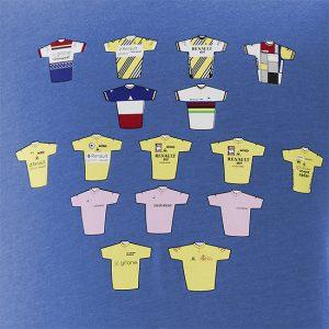 Bernard Hinault T-shirt ringer cyclisme Renault Gitane
