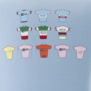 Felice Gimondi Salvarani T-shirt Ciclismo Bianchi