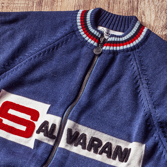 Salvarani Gimondi cycling vintage retro eroica track top Bianchi