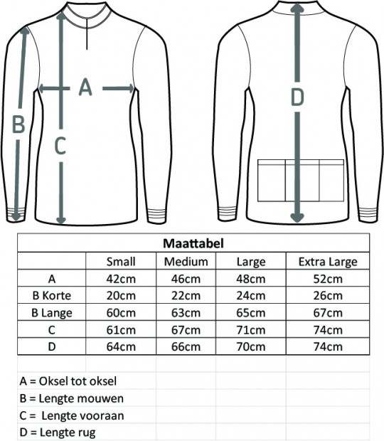 size guide NL
