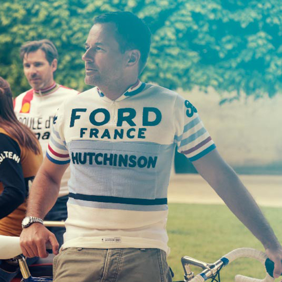 ford maillot cycliste anquetil vintage eroica retro