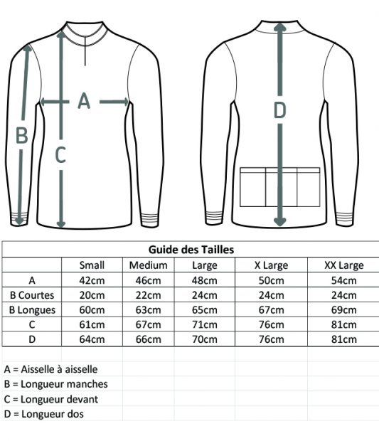 Size Guide FR xxl