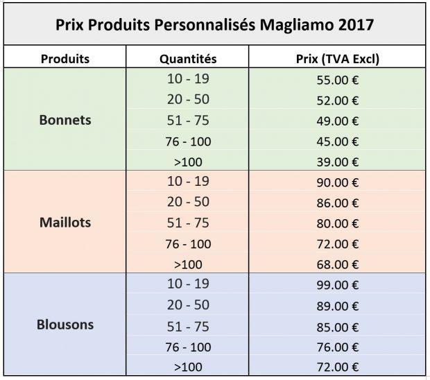 custom prices FR