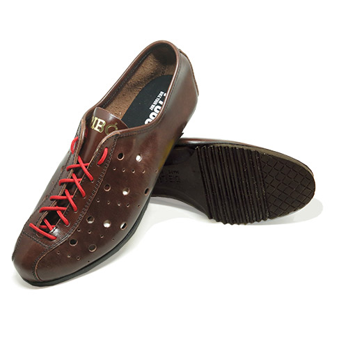Vintage retro leather cycling shoes