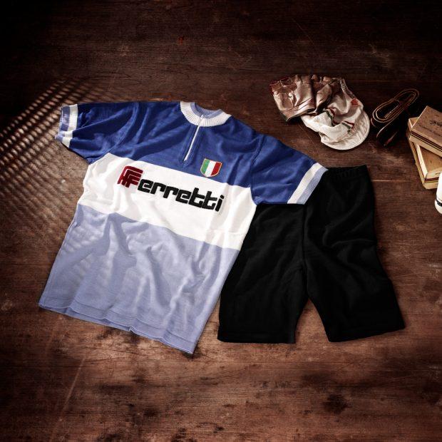 Ensemble: Cuissard + maillot équipe Ferretti 1971