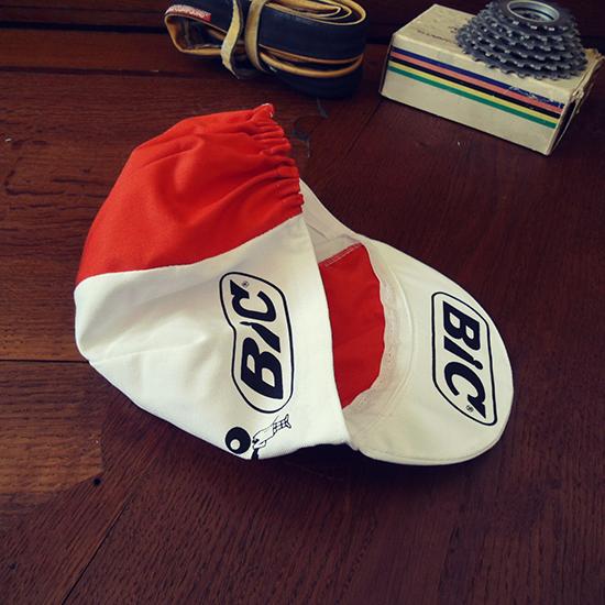 BIC team cycling cap Ocana Anquetil