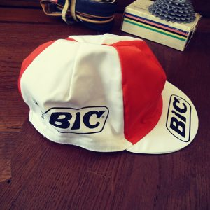 BIC team cycling cap Ocana Anquetil
