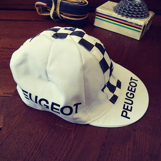Peugeot équipe cycliste casquette Tom simpson Merckx Thevenet