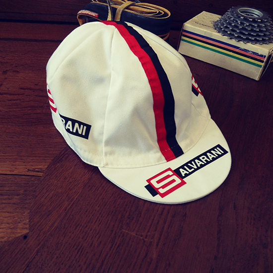 Salvarani team cycling cap