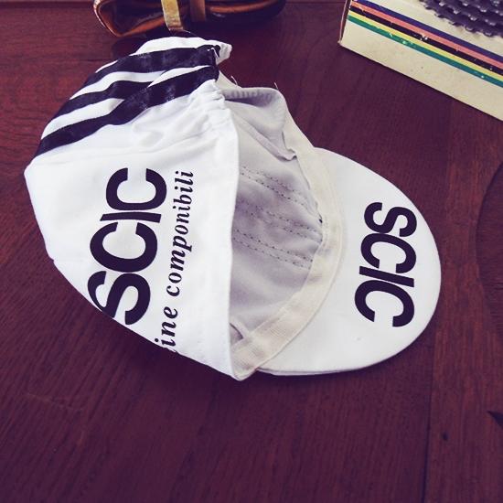 SCIC cycling cap team Baronchelli Saronni Colnago