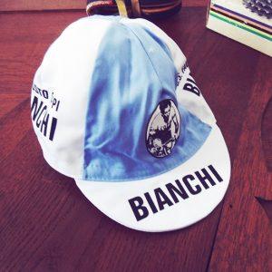 Bianchi fausto coppi wielrennen koers vintage koerspetje