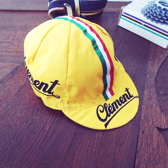 Clement wielrennen vintage koerspetje