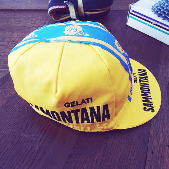 sammontana team cycling cap de rosa