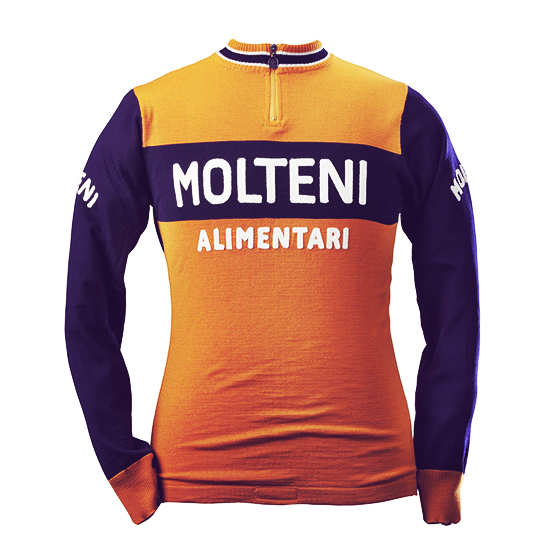 Merckx Molteni long sleeve cycling jersey retro vintage eroica