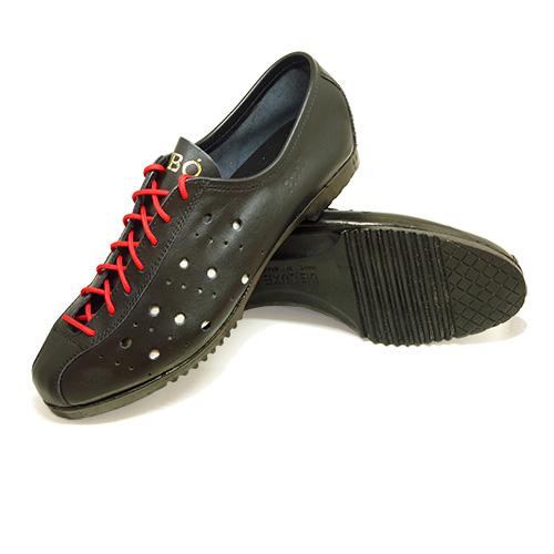vintage retro chaussure cycliste cuir