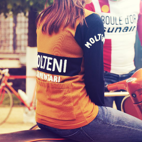 Merckx squadra Molteni maglia ciclismo lanetta retro eroica