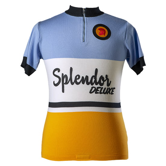 Splendor retro cycling jersey merino wool