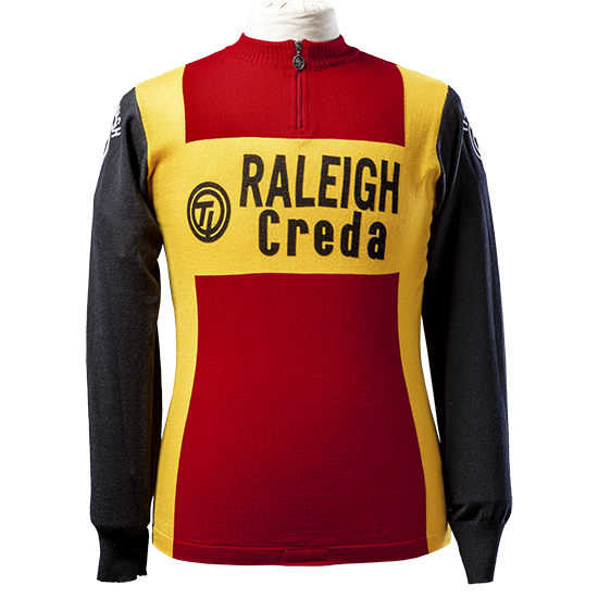 Raleigh wool long sleeve jersey Zoetemelk TI-raleigh