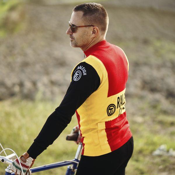 Maillot raleigh laine mérinos cyclisme Zoetemelk Merckx Eroica