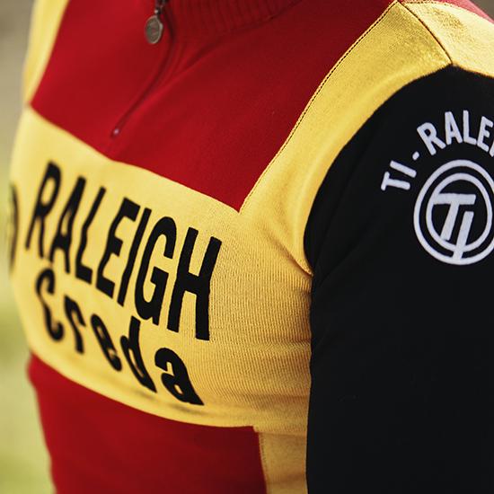 Maillot raleigh laine mérinos cyclisme Zoetemelk Merckx Hinault